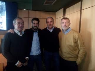 Vili, Marco Rodríguez, Joaquín, y Enrique Mejuto