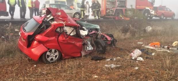 Estado en el que ha quedado el vehículo tras el accidente sufrido este jueves.