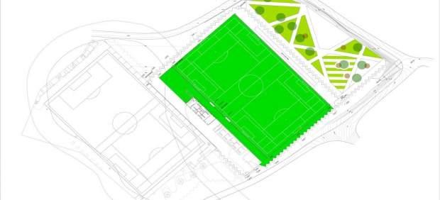Plano del nuevo campo de fútbol deCasetas