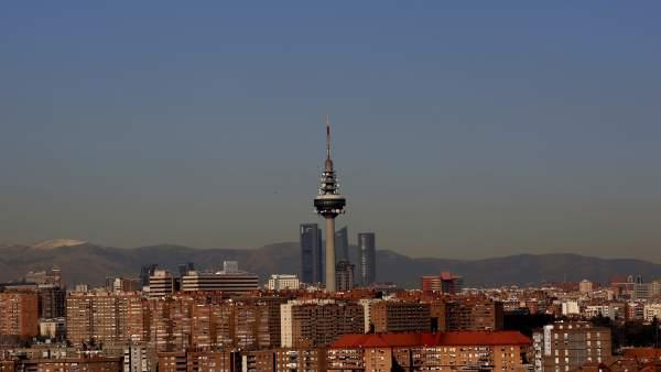 Una panorámica de Madrid, con la 'boina' contaminante.