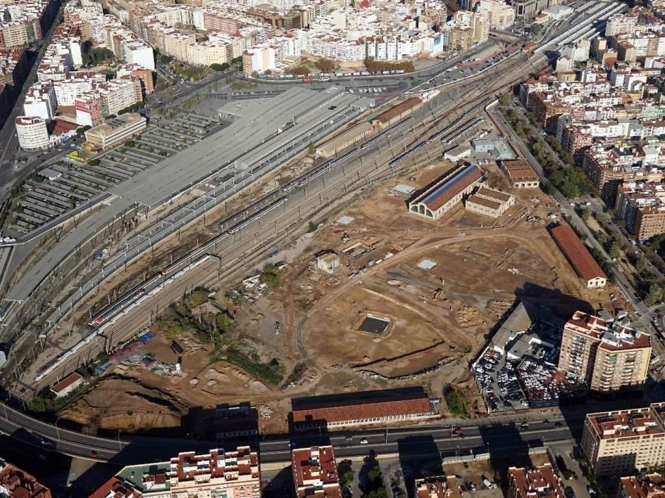 las obras del parque central de valencia avanzan y prev n