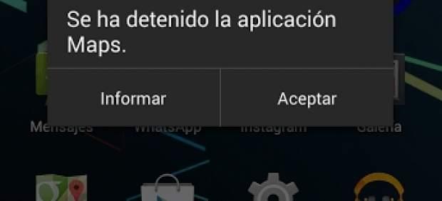 Fallos de apps