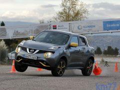 Maniobra de esquiva del Nissan Juke