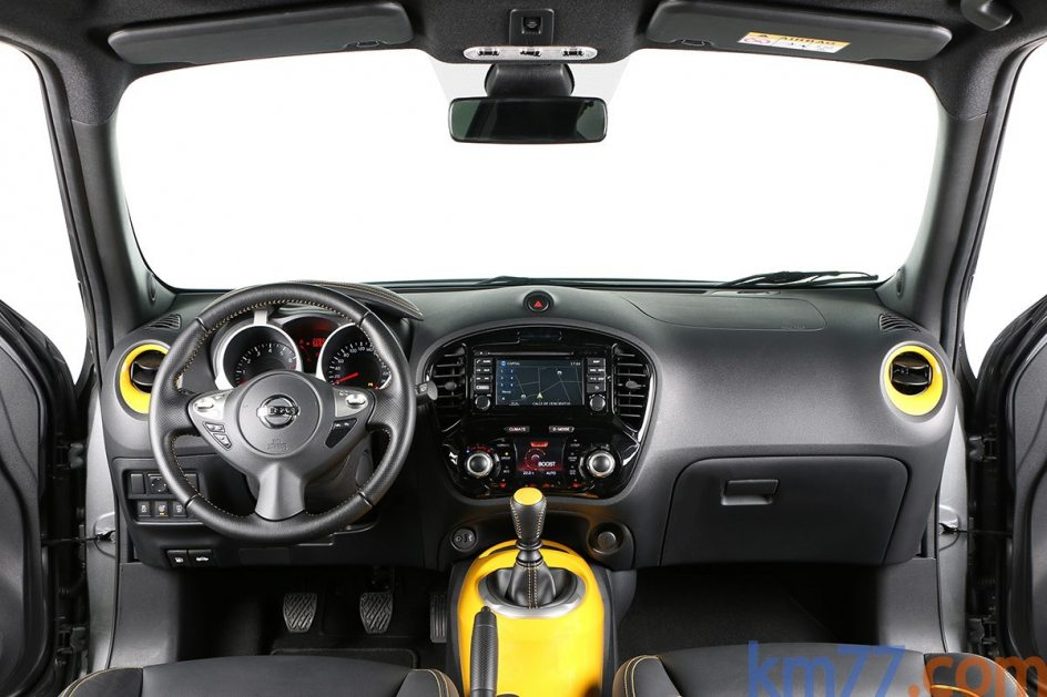 Imagen del interior del Nissan Juke