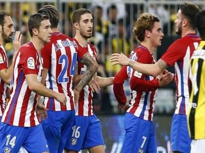 El Atlético celebra un gol ante el Ittihad