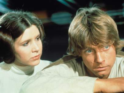 Mark Hamill y Carrie Fisher, como Luke Skywalker y la princesa Leia