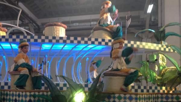 La carroza de Melchor es una de las tres carrozas nuevas que estrenará la Cabalgata de Reis de Barcelona de 2017.