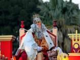 Rey Melchor en cabalgata de Jerez de la Frontera