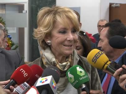 Esperanza Aguirre se pronuncia sobre la cabalgata de los Reyes Magos.
