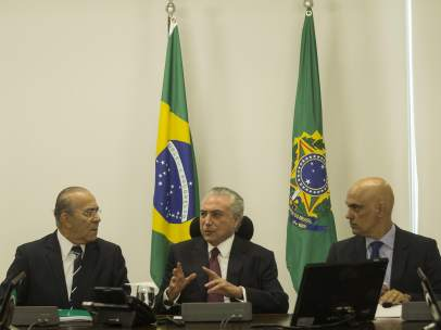 Michel Temer en una reunión en Brasil