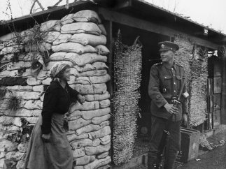 'Sentry and Italian Peasant Woman', November 1918