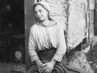 'A Young Italian Woman Employed by the British Army in Italy', November 1918