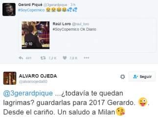Piqué y Álvaro Ojeda