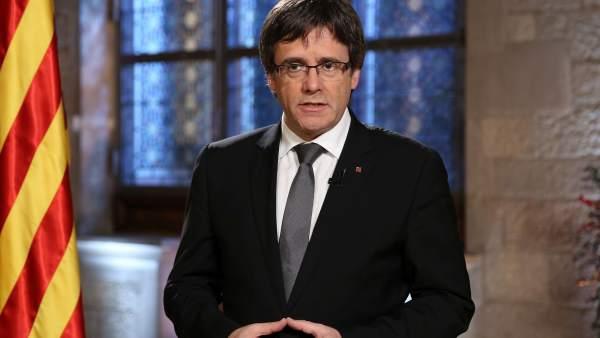 Mensaje de fin de año del president de la Generalitat CarlesPuigdemont.