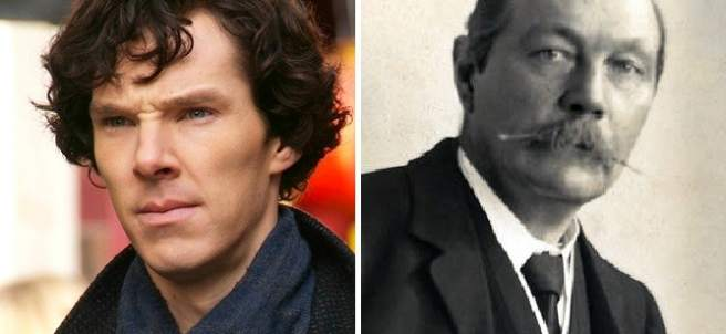Benedict Cumberbatch y Arthur Conan Doyle
