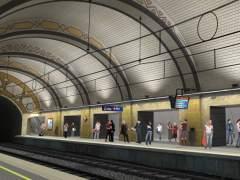 Simulación de la estación de Provença de FGC.