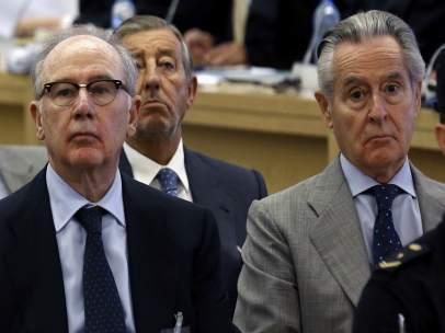 Rodrigo Rato y Miguel Blesa en el juicio por las tarjetas black