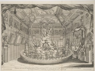 Centerpiece for the Feast of Senator Francesco Ratta, 1693, Giovanni Battista Zaccarini (sugar sculptor), Marc'Antonio Chiarini (draftsman), Giacomo-Maria Giovannini (etcher)