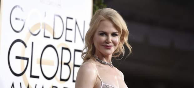\Nicole Kidman, en la alfombra roja de los Globos de Oro\
