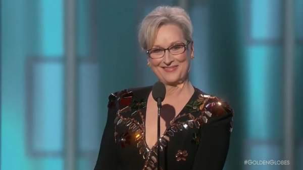 Meryl Streep se lleva el premio honorífico en los Globos de Oro