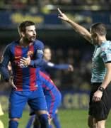 Piqué, en el Barcelona-Vilarreal