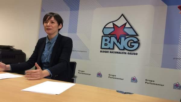 Ana Pontón (BNG), en rueda de prensa