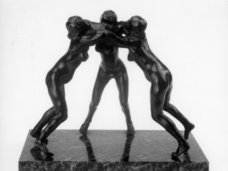 Auguste Rodin (French, 1840–1917), Three Faunesses, modeled before 1896