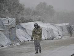 Nevada en el campamento de Lesbos