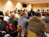 Los diez acusados de explotar sexualmente mujeres a la N-II en la Audiencia de Girona.