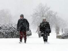 Frío y nieve en Belgrado, Serbia