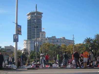Top manta en Barcelona.