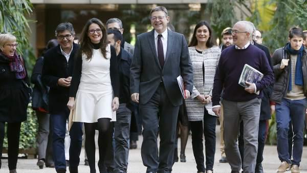 Puig, Oltra y Montiel renuevan el pacto de Gobierno