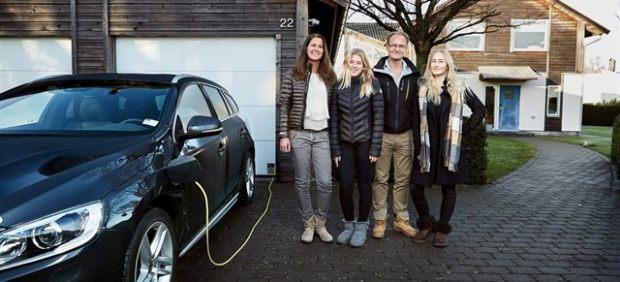 La familia que probará un Volvo autónomo en condiciones reales