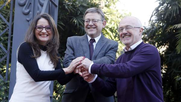 Puig, Oltra y Montiel firman la ampliación del Pacto del Botánico