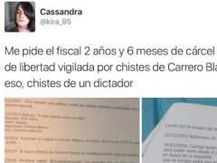 """La nieta de Carrero Blanco ve """"un disparate"""" pedir cárcel por los tuits sobre su abuelo"""