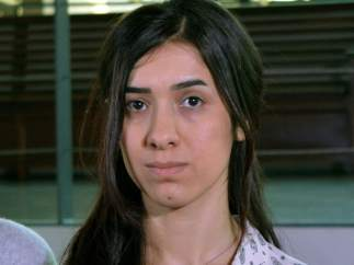 Nadia Murad, víctima de la yihad sexual y activista por los derechos de las minorías étnicas y explotadas sexualmente por el Estado Islámico.