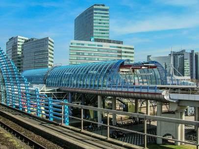 Estación de tren en Ámsterdam
