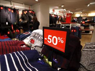 Rebajas en una tienda de ropa