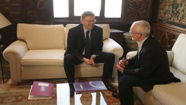 Ximo Puig y Antonio Montiel se reúnen en el Palau