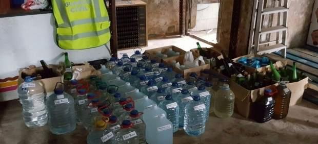 Intervenidos 437 litros de licores sin precintas en Ferrol