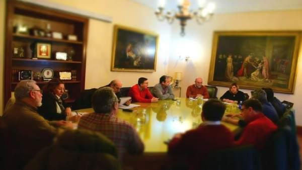 Reunión de sindicatos y equipo de Gobierno de la Diputación de Cáceres