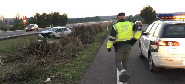 Accidente de tráfico este domingo en la A-23.