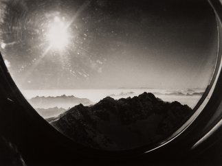 'The Swiss Alps seen from an airplane', 1981