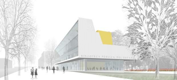 Vista virtual del proyecto de la Biblioteca Pública del Estado.