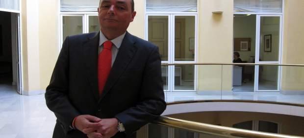 El presidente de la CEV, Salvador Navarro, en la sede de la patronal.