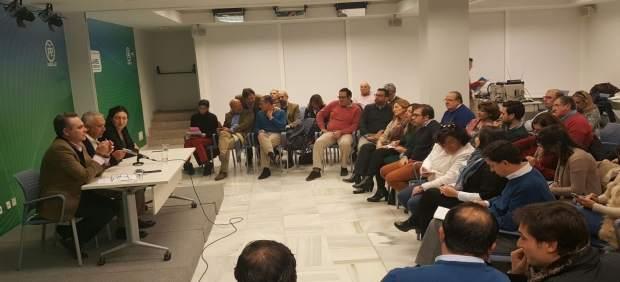Reunión de los compromisarios del PP.
