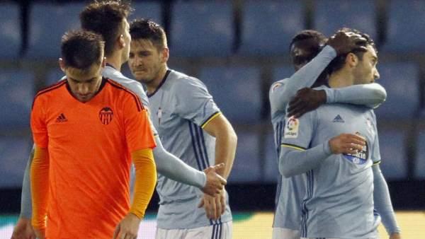 Gol del Celta al Valencia