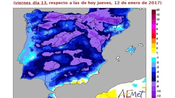 Comença el descens de temperatures i ratxes de vent de fins a 100 km/h a Castelló