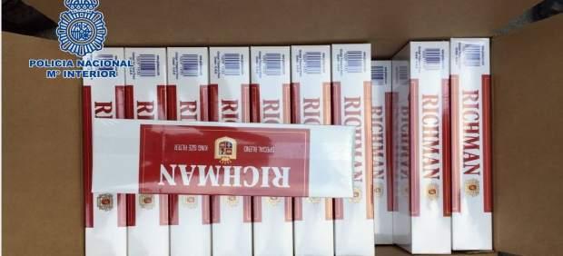 Cajetillas de tabaco intervenidas