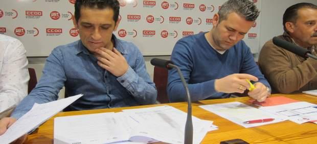 Andrés y Santa Eufemia momentos antes de la rueda de prensa